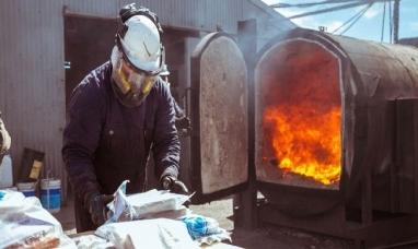 Tierra del Fuego: Se llevó a cabo la incineración de estupefacientes incautados en diversos procedimientos