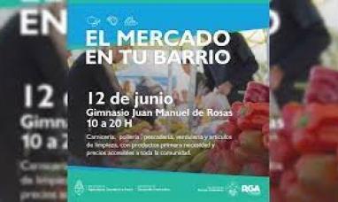 """Tierra del Fuego: El """"Mercado en tu barrio"""" en el barrio Perón de Río Grande"""