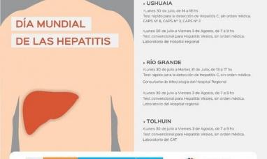 Tierra del Fuego: El ministerio de salud realizará testeos rápidos y de laboratorio sobre hepatitis
