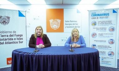 Tierra del Fuego: La ministra de gobierno junto a la de salud, brindaron conferencia de prensa por casos de coronavirus