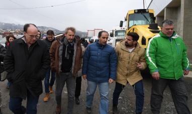 Tierra del Fuego: El ministro del interior recorrió obras que el gobierno nacional realiza en la provincia