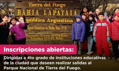 Tierra del Fuego: La municipalidad de Ushuaia articula recorridas por el parque nacional con instituciones educativas