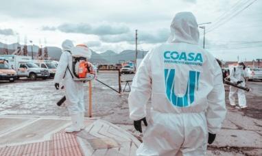 Tierra del Fuego: La municipalidad de Ushuaia intensifica la desinfección masiva en sitios claves