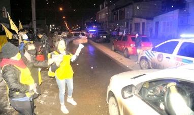 Tierra del Fuego: Ni la nieve las para, continúan reclamando justicia para sus hijos