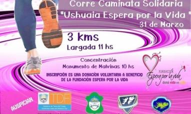 """Tierra del Fuego: Nueva """"Corre caminata Solidaria"""" en Ushuaia"""