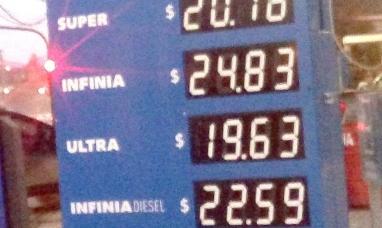Tierra del Fuego: Nuevo aumento en los combustibles, el litro de nafta súper ya supera los 20 pesos