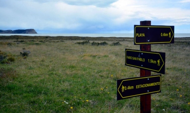 """Tierra del Fuego: Nuevo mirador y cartelería, las mejoras realizadas en el sendero del faro """"San Pablo"""""""