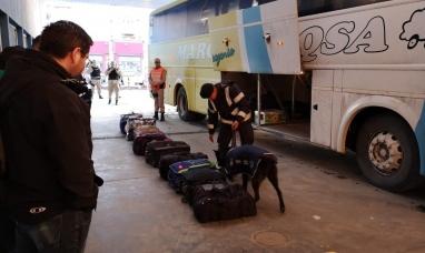 Tierra del Fuego: Operativo conjunto en la terminal de ómnibus de Río Grande