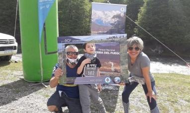 """Tierra del Fuego: Se realizó el """"trail"""" (sendero) """"117° aniversario de parques nacionales"""""""