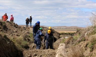 Tierra del Fuego: Se realizan trabajos de mejoramiento en la red pluvial de Río Grande