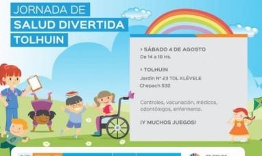 Tierra del Fuego: Salud divertida hoy sábado en el jardín N° 23 de Tolhuin