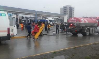 Tierra del Fuego: Simulacro de accidente en una estación de servicios de Río Grande