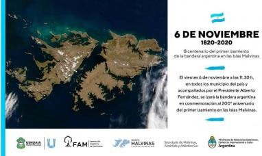 Tierra del Fuego: Ushuaia conmemorará el bicentenario del primer izamiento del pabellón nacional en Malvinas
