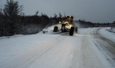 Tierra del Fuego: Vialidad nacional pidió transitar con suma precaución la ruta N° 3