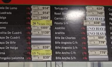 Ya se venden cortes de carne vacuna a más de 1.000 pesos el kilo en carnicerías del país