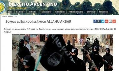 Ataque informático a la página web del ejército: dejaron supuestos mensajes de ISIS