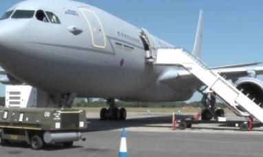 Un avión militar británico llegó a Malvinas desde Montevideo