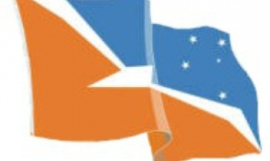 La bandera de Malvinas es la de Tierra del Fuego