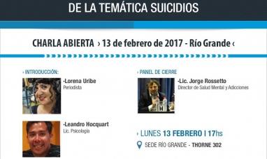 Charla abierta en la UNTDF sobre el tratamiento informativo de los suicidios