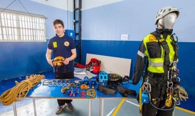 Expo defensa civil : Los chicos de Ushuaia aprendieron sobre prevención y seguridad