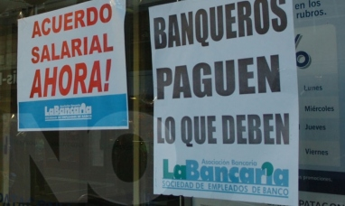 Gremio bancario confirmó nuevo paro para el hoy martes17 y miércoles 18