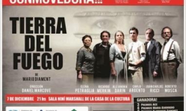 """Llega a """"Tierra del Fuego"""" la obra más premiada del teatro off argentino"""