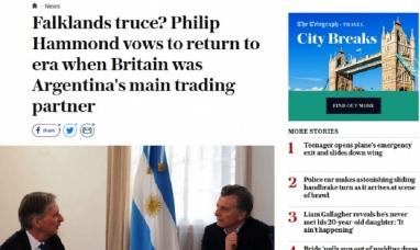 Malvinas: los diarios ingleses festejaron que el presidente argentino haya abandonado el reclamo por soberanía