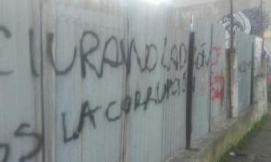 Rubinos y Romano repudiaron pintadas contra el ex intendente Sciurano