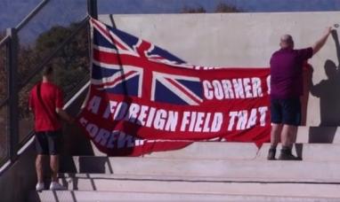 """San Juan: """"Hay un rincón de tierra extranjera que es para siempre Inglaterra"""" decía la bandera en inglés"""