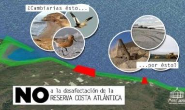 Tierra del Fuego: Asociación rechaza desafectación de reserva costera