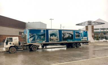 """Tierra del Fuego: El """"camión sensorial"""" de el Calafate llegó a Ushuaia"""