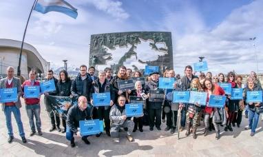 Tierra del Fuego: Comitiva por Malvinas realizó recorrido simbólico en Ushuaia