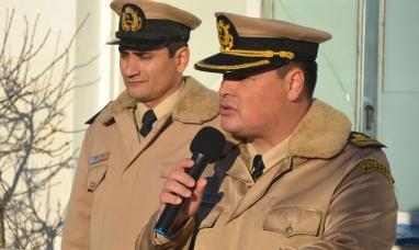 Tierra del Fuego: Encendido discurso de Leonardo Valenzuela, jefe prefectura naval Río Grande  por los derechos de soberanía argentina en Malvinas