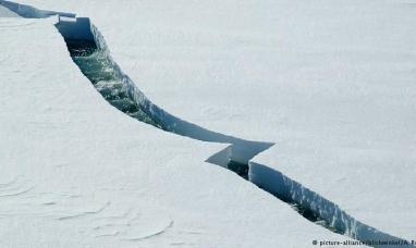 Se formó un gigantesco iceberg en la Antártida