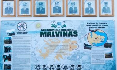 Tierra del Fuego: Gendarmería homenajeó a efectivos caídos en la guerra de Malvinas