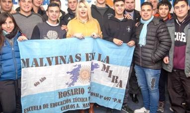 Tierra del Fuego: La gobernadora recibió a alumnos rosarinos y destacó el trabajo del observatorio Malvinas
