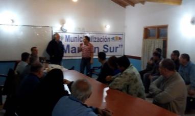 Tierra del Fuego: Municipalización margen sur vecinos tuvieron una reunión informativa