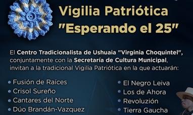 Vigilia patriótica para el 24 de mayo